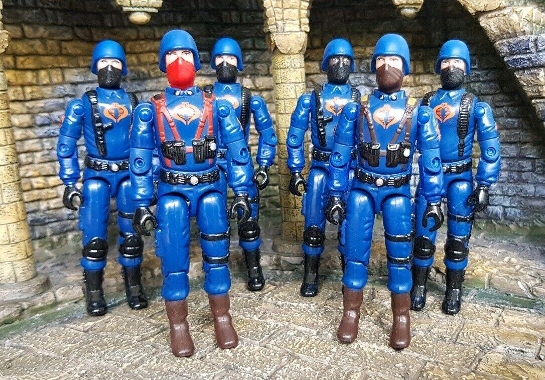 Fuerza de acción Gi Joe Cobra doldier Trooper Ejército Constructor x6 Juguetes R Us Exclusivo