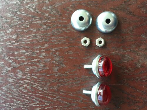Red Bicycle reflectors jewels for Schwinn Harley J.C Higgins etc Rack reflectors