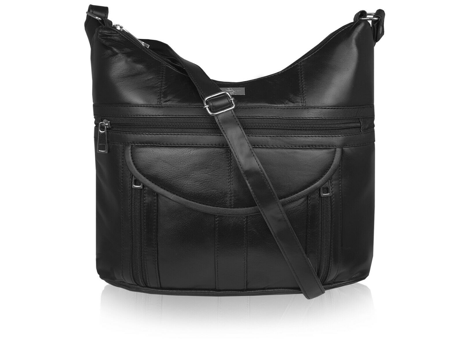 Ladies Soft Leather Black Handbag Single Strap Shoulder Bag Handbags Bags QL176K