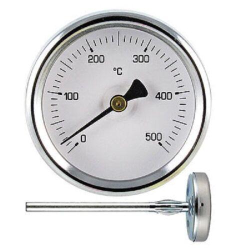 PIROMETRO TERMOMETRO PER FORNO CON GAMBO DA CM 5,5 IN ACCIAIO INOX 500°C mshop