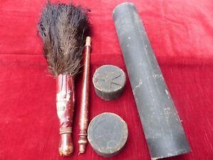 Plumeau en plumes d'autruches 19 ème avec son étui d'origine lRkXD5zW-07215138-436756521
