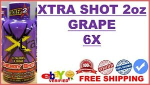 6X-Stacker-2-Xtra-Energy-Supplement-Shot-2oz-GRAPE-Flavor-Lot-of-6X-10-2019