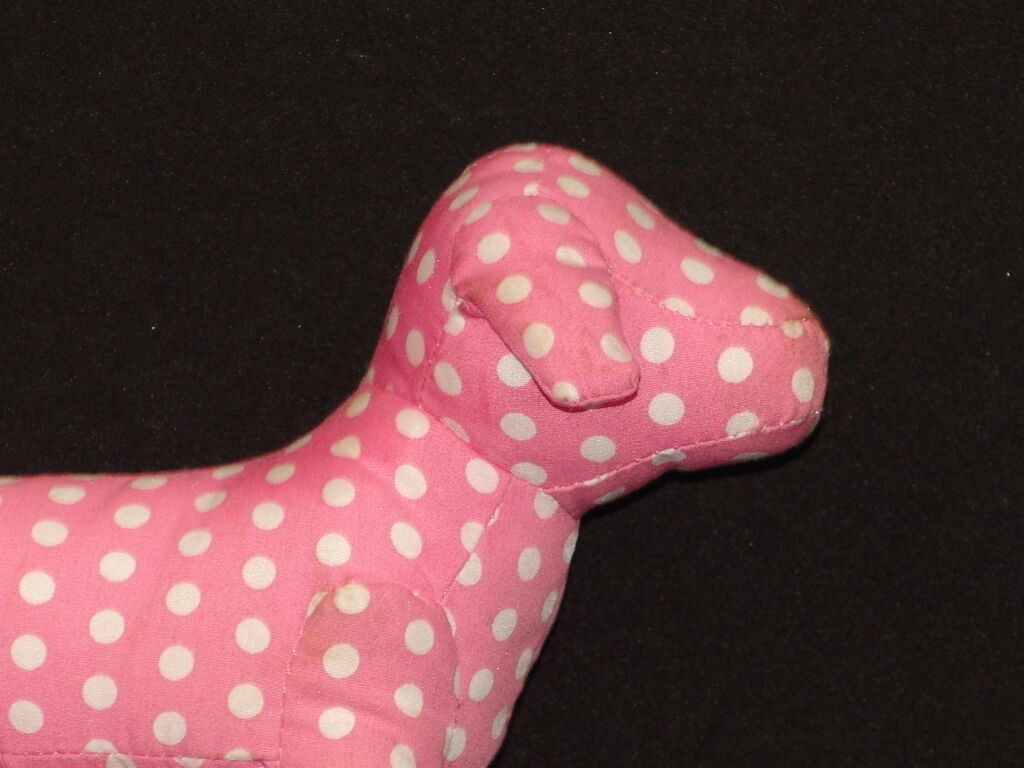 NEW RARE FIRST EDITION VICTORIA'S SECRET Rosa Weiß POLKADOT PUPPY DOG PLUSH TOY
