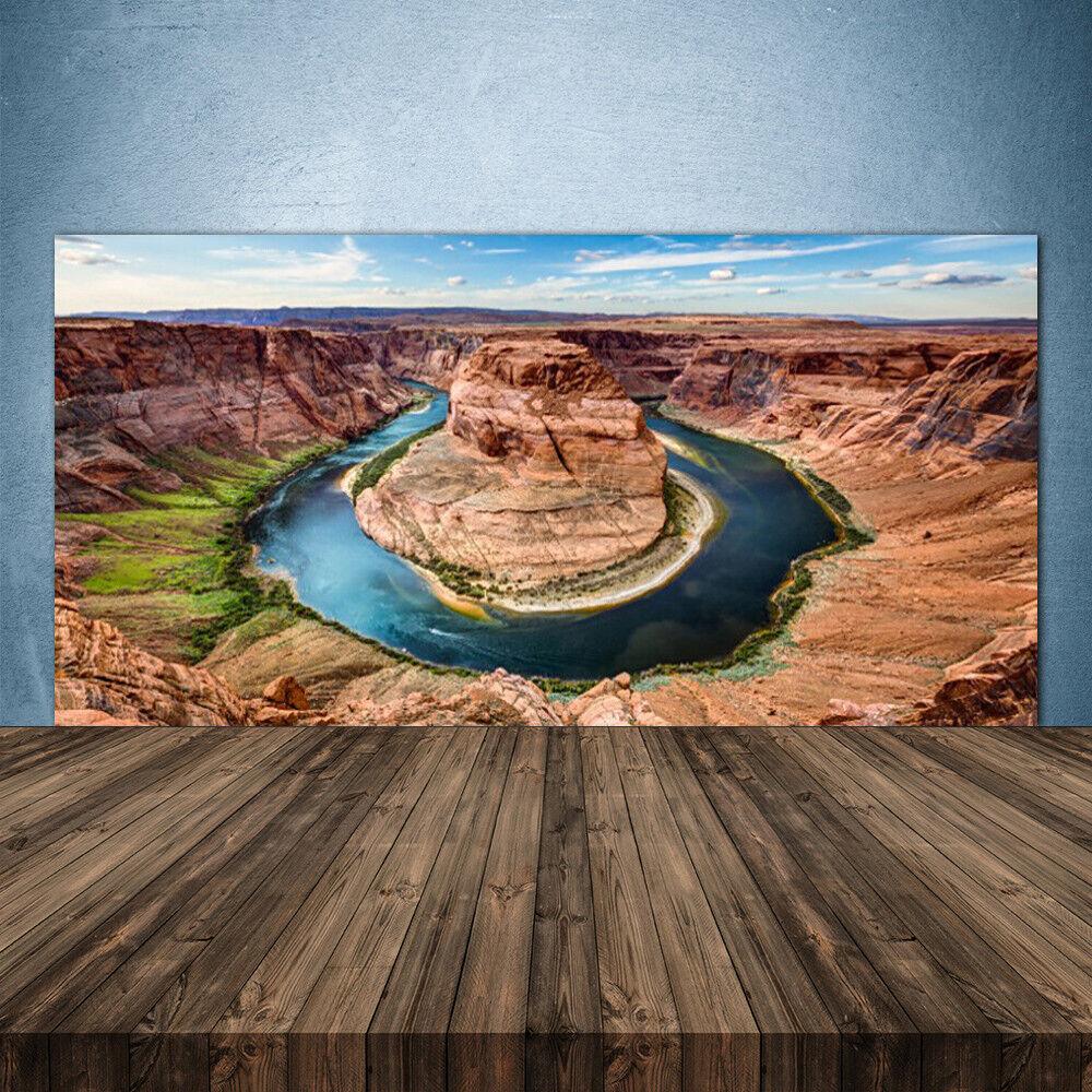 Crédence de cuisine en verre Panneau 140x70 Paysage Grand Canyon Rivière