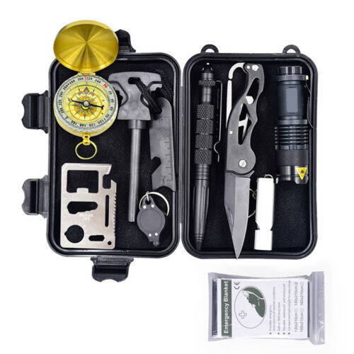 Outdoor Emergency Survival Kit First Aid Tool Set Rescue Set Hiking Camping Gift