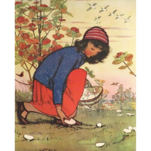 M Dawson Print Picking Mushrooms