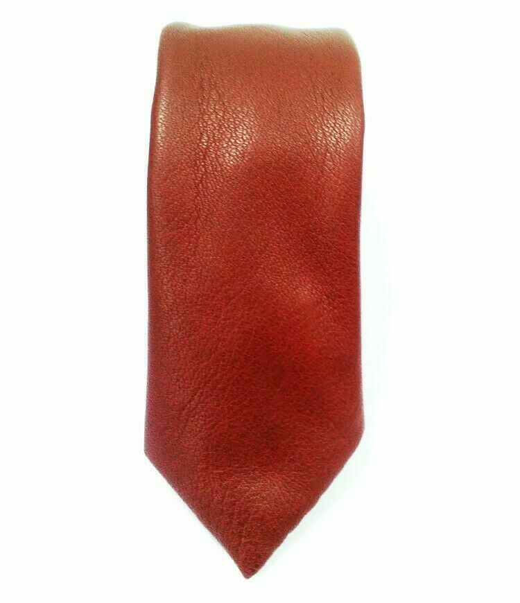 FORMAL BROWN LEATHER TIE GENUINE LEATHER TIE STYLISH LEATHER TIE LOOK
