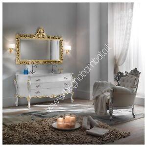 Mobile Bagno Stile Barocco Moderno Bombato In Massello Intagliato | eBay