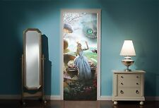 Door Mural Alice in Wonderland Mad Hatters tea Party View Wall Sticker Decal 302