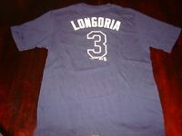 TAMPA BAY RAYS EVAN LONGORIA # 3 T-SHIRT YOUTH LARGE SIZE 14-16 NICE MLB MERCH