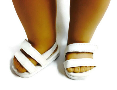 "White Sandal Shoes made for 18/"" American Girl Doll Clothes"