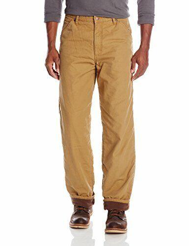 Choose SZ//color Wrangler Authentics Men/'s Fleece Lined Carpenter P