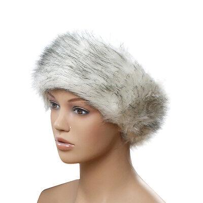 New gift Winter Russian Cossack Style Faux Fur Hat Ski Headband Earwarmer Noble