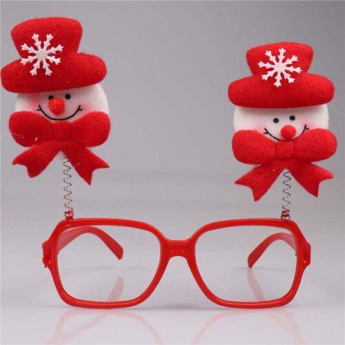 Novelty Elk Santa Claus Antler Christmas Party Glasses Toys Carnival Decorations