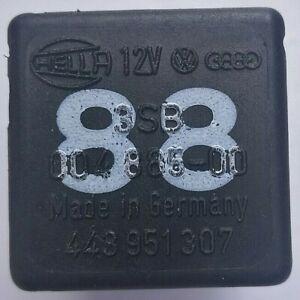 VW-Audi-Seat-Skoda-Black-Hella-Relay-No-88-12V-4-Pin-443951307-00488500-OEM
