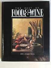 Vintage The Best of FOOD & WINE 1991 Collection Recipes Cookbook Hardcover