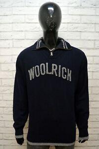 WOOLRICH-Maglione-Uomo-Pullover-Taglia-2XL-Sweater-Cardigan-Lana-Felpa-Maglia