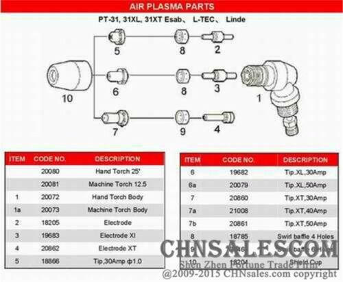 100 pcs AG-40 PT-31 Extended Electrodes Plasma Cutter Cutting Consumables CUT-40