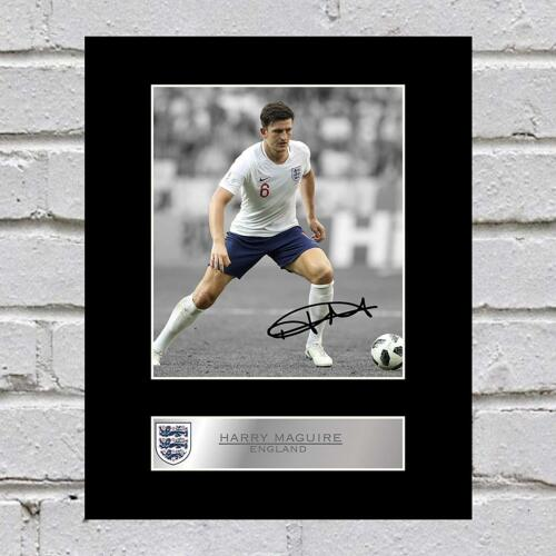 Harry Maguire Signed Mounted Photo Display England