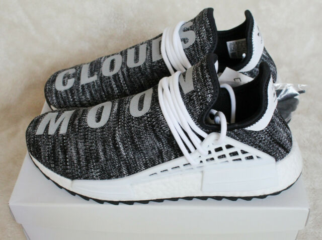 New Adidas Pharrell Williams Human Race HU NMD Oreo Grey Black White UK 10  10.5