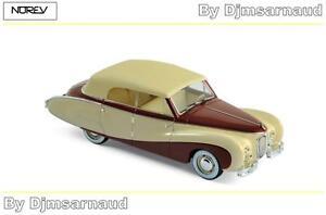 Austin-A125-Sheerline-de-1947-Beige-amp-Dark-Red-NOREV-NO-070013-Echelle-1-43
