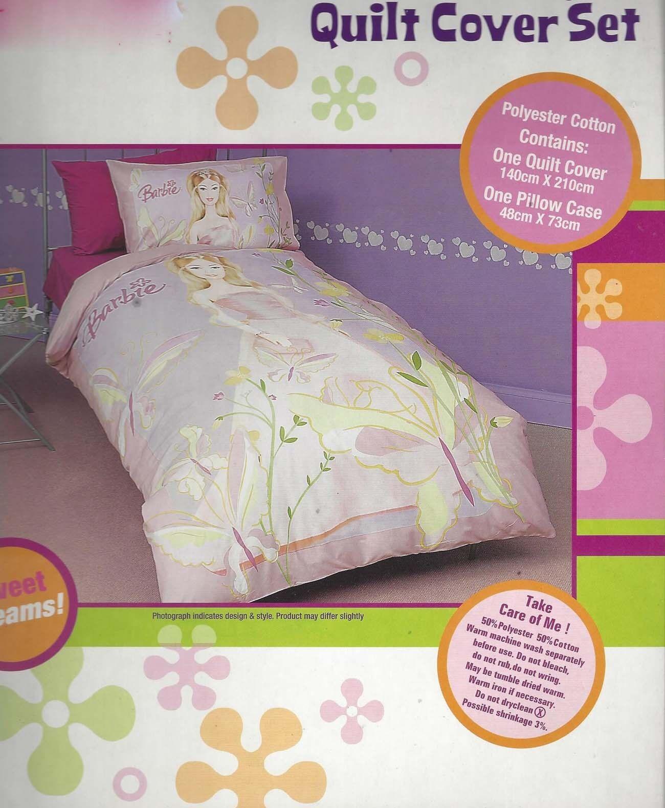Barbie Duvet   Doona Quilt Cover Set   US Twin   Single