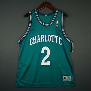 Image is loading 100-Authentic-Larry-Johnson-Hornets-Vintage-Champion-Jersey - e790a2e19