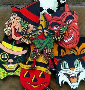 9 vintage Halloween Images cats devil witch vampires skull laser cut wood images