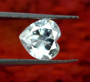 White Sapphire Heart Shape Gemstone Natural 2.15 Ct Certified Valentine's Gift