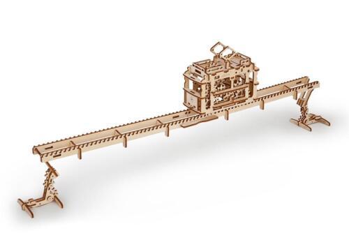 UGears Tram on Rails 154 Pieces Wooden Mechanical Model