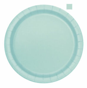 Image is loading 20-x-Mint-Green-Paper-Plates-18cm-Mint-  sc 1 st  eBay & 20 x Mint Green Paper Plates 18cm Mint Wedding Serviettes Tableware ...