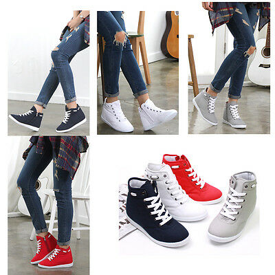 Flats Heels Wedge Platform Trainers High Sneakers Boots Ankles Lace up Shoes TNG