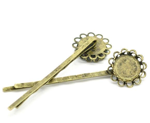 LP Großhandel Bronze Kamee Cabochon Haarspangen Haarclips Haarklammer 6x1.7cm | | | Attraktiv Und Langlebig  | Modernes Design  | Rabatt  170578