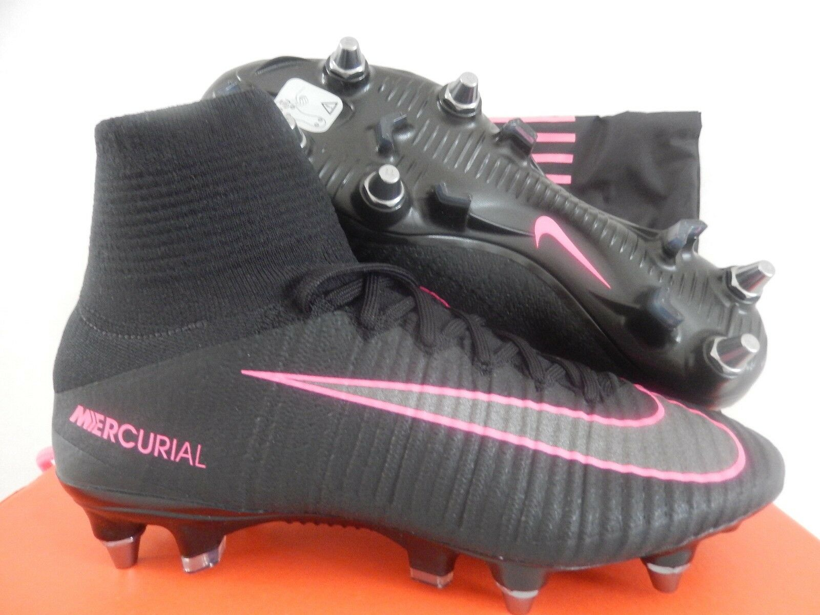 MENS NIKE MERCURIAL SUPERFLY V SG-PRO BLACK-PINK BLAST Price reduction The most popular shoes for men and women