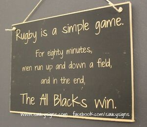 Simple Game Rugby Sign Kiwi New Zealand All Blacks Football Sign