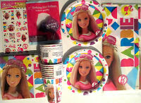Barbie Sparkle Birthday Party Supply Kit Pack Set W/ Balloons & Tattoos