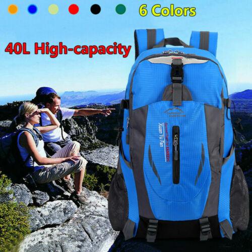 Waterproof Outdoor Sport Hiking Camping Travel Backpack Daypack Rucksack Bag 40L