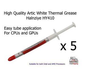 5X-Artic-Blanco-Halnziye-HY410-Alta-Calidad-Termico-Disipador-Procesador-Pasta