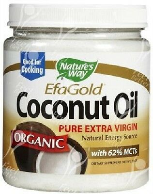 Natures Way, Pure Organic Extra Virgin Coconut Oil 16oz - COOKING!