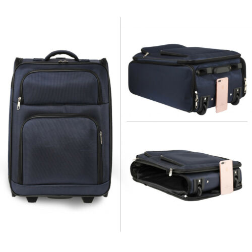 Wheeled Travel Holdall Suitcases Large Cabin Approved Luggage Trolley New