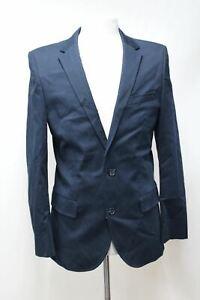 Hugo-Boss-De-Hombre-Azul-Marino-Chaqueta-Blazer-con-solapa-ancha-abotonadura-simple-38R