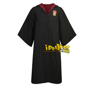 Deluxe-School-Robe-Adult-Young-Gryffindor-Slytherin-House-School-Uniform-Cloak