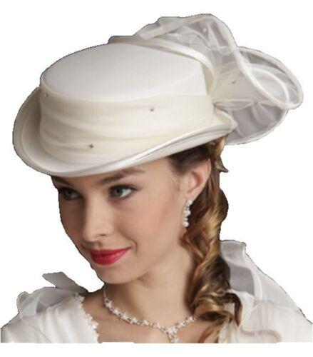Chapeau  cérémonie femme modèle VICKIE marque CRINOLIGNE blanc ou  ivoire