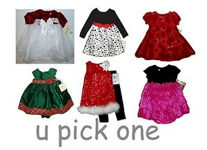 Christmas Dress Party Special Occasion Holiday S Wedding Fancy Little Girls 18m Ebay
