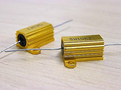 2pcs 47K ohm Metal Case Resistors 5W +/-5% new