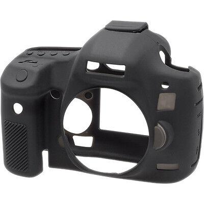 Negro Cámara de piel de silicona protector easyCover cubierta para Canon EOS 1DX Mark II