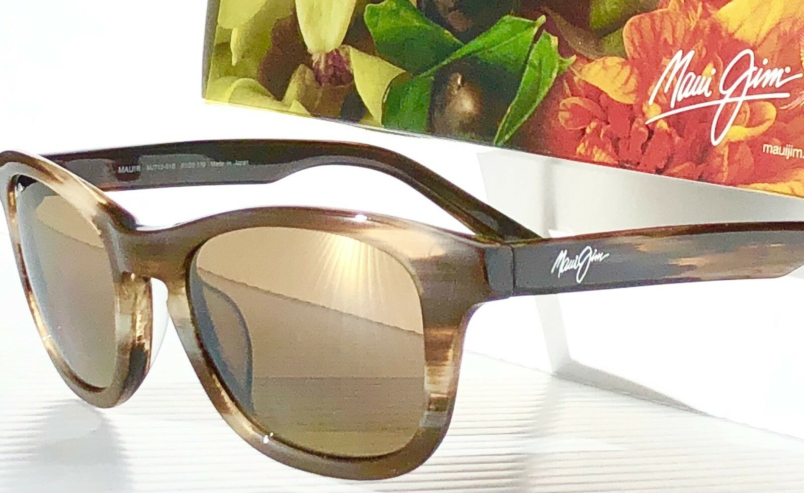+NEW Maui Jim KA/'A POINT Woodgrain POLARIZED BRONZE Women/'s Sunglass H713-01