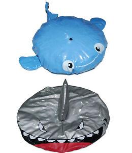 Kids-Girl-Boy-Children-Hair-Wrap-Sea-Shark-Waterproof-Bath-Shower-Head-Cap-Hat