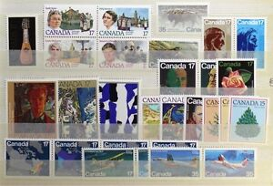 CANADA-Postage-Stamps-1981-Complete-Year-Set-collection-Mint-NH-See-scans