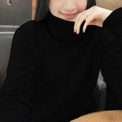 Women Turtleneck Casual 100/% Cashmere Sweater Long Sleeve Warm Pullover Tops